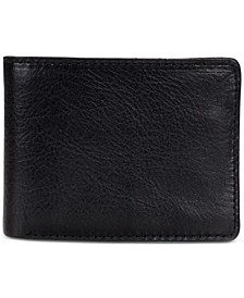Men's Leather Double Billfold Wallet