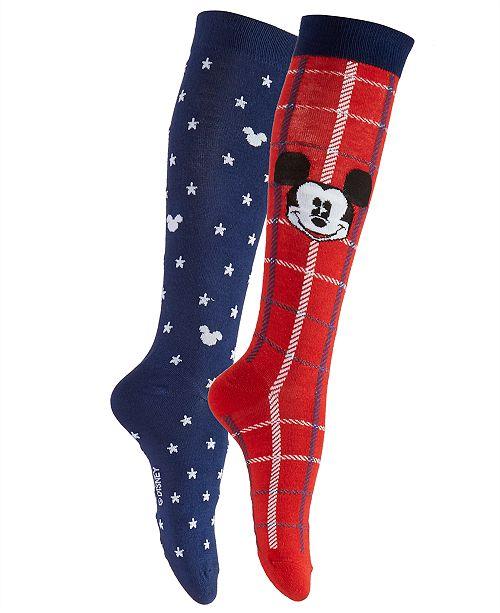 52c7e653cb2 Disney Women s 2-Pk. Plaid Mickey Mouse Knee-High Socks   Reviews
