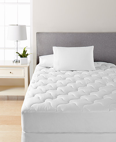 Dream Science Essential Quilted King Mattress Pad by Martha Stewart Collection, Created for Macy's