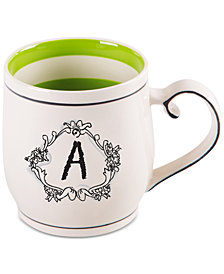 "Home Essentials Katie and Mandy Monogram ""A"" Mug"