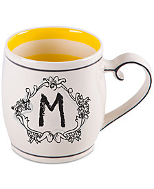 "Home Essentials Katie and Mandy Monogram ""M"" Mug"