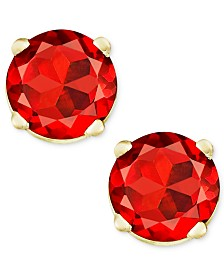 Garnet Stud Earrings in 14k Gold (1 ct. t.w.)