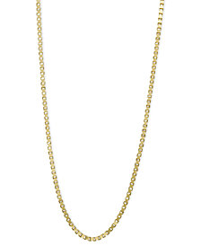 "14k Gold Necklace, 24"" Box Chain"