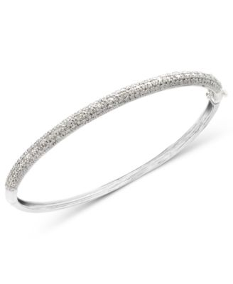 product w htm sterling bracelet bangle p diamond silver bangles