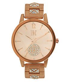 I.N.C. Women's Boyfriend Pavé Pyramid Glitz Bracelet Watch 40mm, Created for Macy's