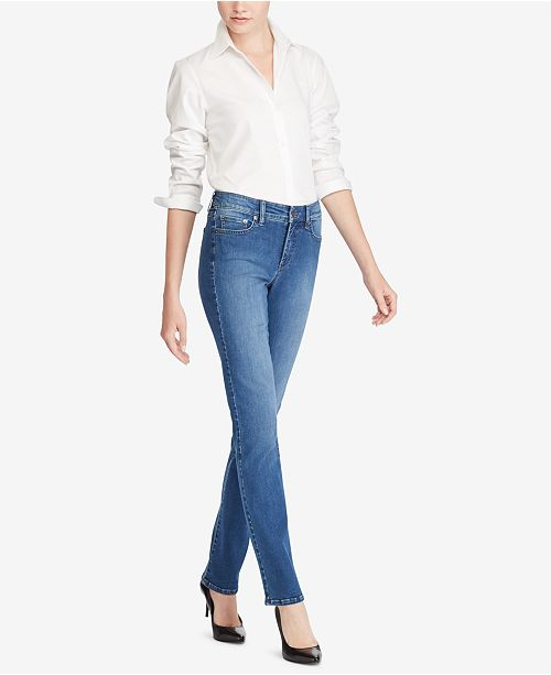 3f35c4fd9ad ... Lauren Ralph Lauren Ultimate Slimming Premier Straight Jeans ...