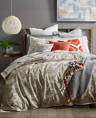 CLOSEOUT! Lucky Brand Leila Paisley Reversible Duvet Cover Sets, Created for Macy's