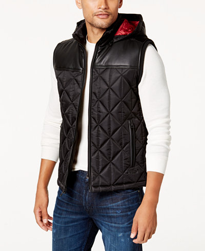 GUESS Men's Spence Quilted Vest - Coats & Jackets - Men - Macy's : quilted vests for men - Adamdwight.com