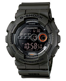 G-Shock Men's Digital Green Resin Strap Watch 51mm
