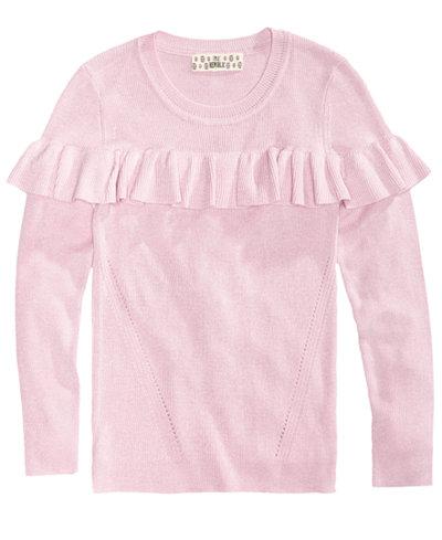 Pink Republic Ruffle Sweater, Big Girls (7-16) - Sweaters - Kids ...