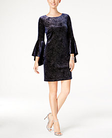 Jessica Howard Bell-Sleeve Sparkle Dress