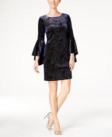 Jessica Howard Bell-Sleeve Sparkle Dress