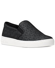 Slip on Sneakers for Women On Sale, Black, Velvet, 2017, 4 Michael Kors