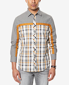 Sean John Men's Melange Colorblocked Shirt, Created for Macy's