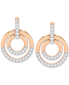 Swarovski Pavé Circle Drop Earrings
