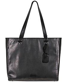 Tote-ally Silver Faux-Leather Tote