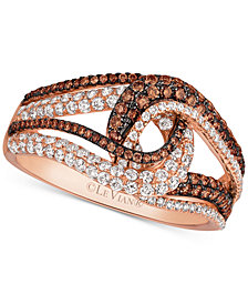 Le Vian Chocolatier® Diamond Swirl Ring (9/10 ct. t.w.) in 14k Rose Gold