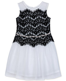 BCX Embellished Lace Fit & Flare Dress, Little Girls