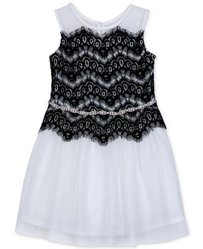 BCX Embellished Lace Fit & Flare Dress, Little Girls