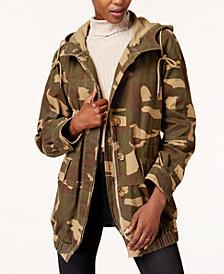 Levi's® Hooded Camo-Print Utility Jacket