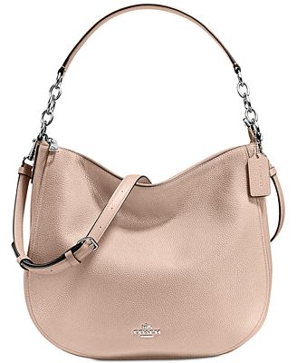 COACH Pebble Chelsea 32 Hobo - Handbags & Accessories - Macy's