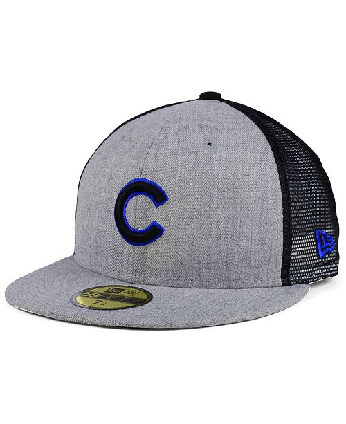 a73c1e74d48 ... New Era Chicago Cubs New School Mesh 59FIFTY Fitted Cap ...
