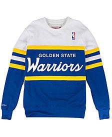 Mitchell & Ness Men's Golden State Warriors Head Coach Crew Sweatshirt