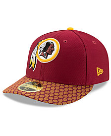 New Era Washington Redskins Sideline Low Profile 59FIFTY Fitted Cap