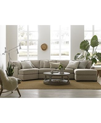 Furniture Carena Fabric Sectional Collection Created For Macy S