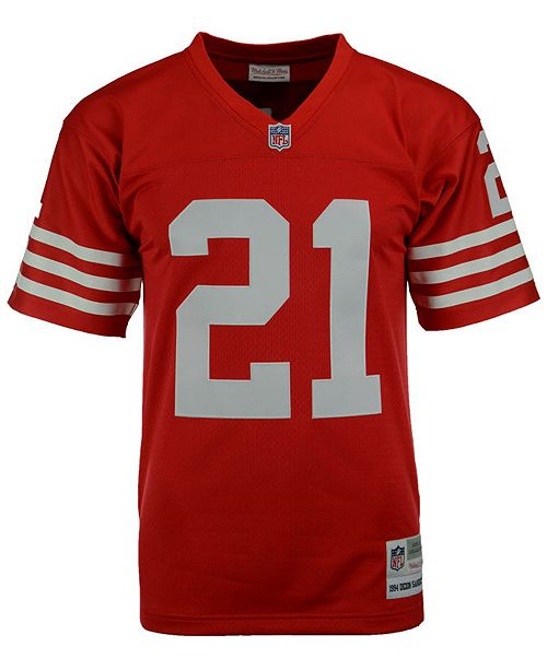 low priced 281d0 2a2cd Men's Deion Sanders San Francisco 49ers Replica Throwback Jersey