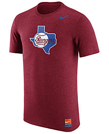 Nike Men's Texas Rangers Coop Tri-Blend Logo T-Shirt