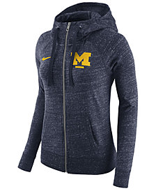Nike Women's Michigan Wolverines Gym Vintage Full-Zip Hoodie