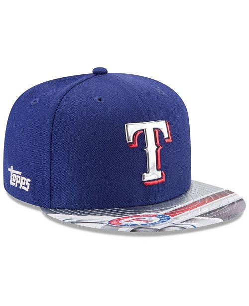 New Era Texas Rangers X Topps Chrome 9FIFTY Snapback Cap