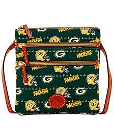 Dooney & Bourke Green Bay Packers Nylon Triple Zip Crossbody