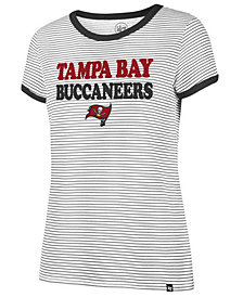 '47 Brand Women's Tampa Bay Buccaneers Striped Ringer T-Shirt