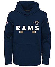 Nike Los Angeles Rams Pullover Therma Hoodie, Big Boys (8-20)