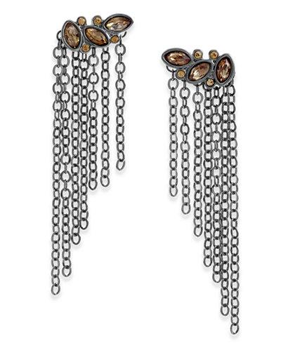 Thalia Sodi Gold-Tone Stone & Chain Drop Earrings, Created for Macy's