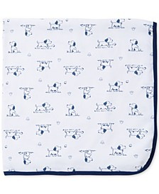 Baby Boys Puppy Toile Blanket