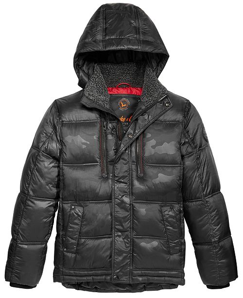 e0b76ae1d Hawke & Co. Outfitter Hooded Puffer Jacket, Big Boys & Reviews ...
