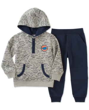 Kids Headquarters 2Pc DinoPrint Hoodie  Jogger Pants Set Baby Boys (024 months)