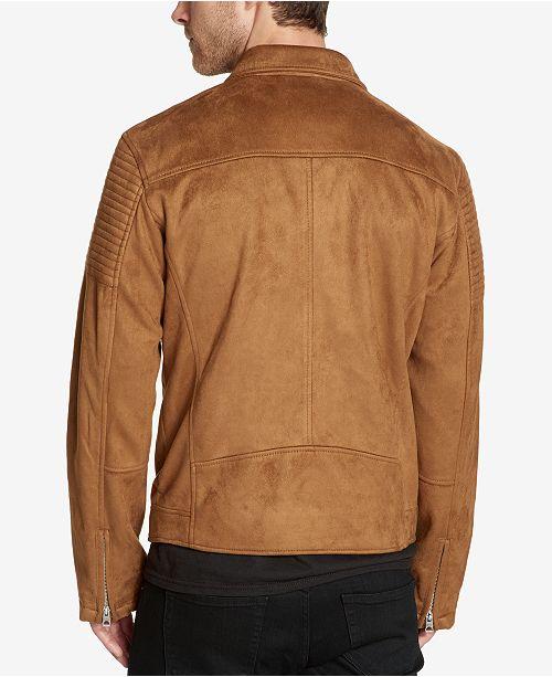 e1330b63ae575 GUESS. Men s Faux-Suede Moto Jacket. 1 reviews. main image  main image   main image ...