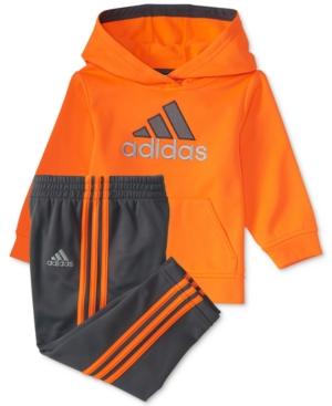 adidas 2Pc LogoGraphic Hoodie  Pants Set Baby Boys (024 months)