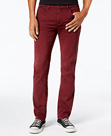 Ezekiel Men's Now Slim-Fit Stretch Burgundy Denim Pants