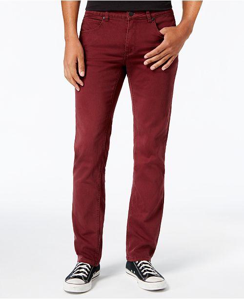 e5b86eb1 Ezekiel Men's Now Slim-Fit Stretch Burgundy Denim Pants & Reviews ...