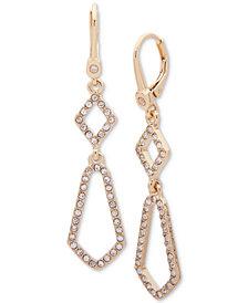 Ivanka Trump Gold-Tone Crystal Pavé Drop Earrings