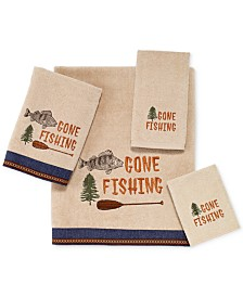 "Avanti Gone Fishing 13"" Square Washcloth"