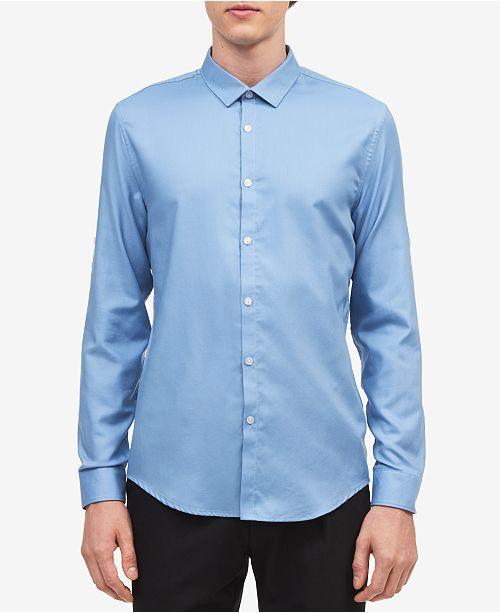 Calvin Klein Men's Twill Roll-Up Shirt