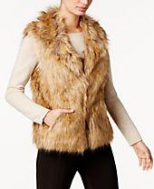 INC International Concepts Faux Fur Vest, Created for Macy's