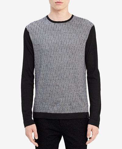 Calvin Klein Men's Geo-Pattern Merino Sweater
