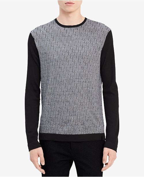 Calvin Klein Men's Geo-Pattern Merino Sweater
